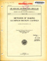 Methods of making aluminum bronze castings (Material Section report no. 174)