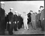 1945: General Holland M. Smith reviewing API NROTC unit
