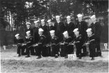 1946: Navy ROTC rifle team at Alabama Polytechnic Institute, February 1946
