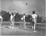 1938: Women playing volleyball 1