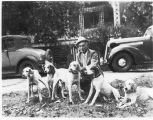 1930s: Don Robertson with hound dogs
