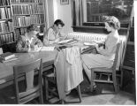 1946: Students studying in library