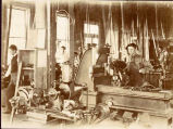 1890s: Students in machine shop class
