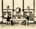 1930s: Students studying in the library
