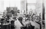 1929: Students in engineering laboratory