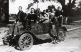 "1929: Students in ""dressed up"" automobile 2"
