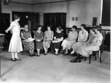 API student activities: dressmaking class, 1925
