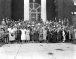 Farm women and home demonstration agents attending API summer school in 1927