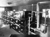 Interior view of  W. L. Walsh's poultry incubator house in Butler County, Alabama