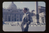 1959: CHK in Rome, in front of St Peter's Basilica