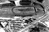 1950: Aerial view of API Homecoming football game 1