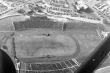 1950: Aerial view of API Homecoming football game 10