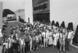 1983: Metrologic staff outside new Bellmawr headquarters