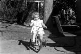 1947: Hope Penn on tricycle