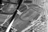 1950: Aerial view of API Homecoming football game 11