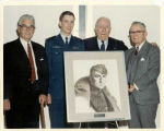 Eddie Rickenbacker with Douglas Campbell and Charles D'Olive at the Air Force Academy