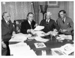 Eddie Rickenbacker at a meeting