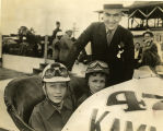 Eddie Rickenbacker with his sons, David and William