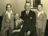 Eddie and Adelaide Rickenbacker with their sons, David and William