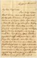 1859-08-01: Sarah Fitzpatrick Mitchell to Mary Louisa Mitchell Williamson, Letter