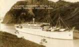 "U.S. Army transport ship ""Republic"" passing through Panama Canal in 1934"