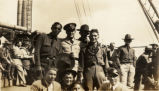 Everett Leavins and other soldiers onboard a U.S. Army transport ship in Hawaii in the 1930s 2