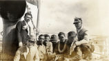 Everett Leavins and other soldiers onboard a U.S. Army transport ship in Hawaii in the 1930s 1