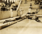Military swim meet: start of a race, Hawaii, 1930s 1
