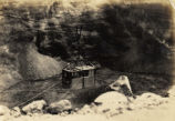 Cable car gondola over Halemaumau Firepit, Hawaii, 1930s 1