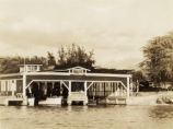 Boat house in Hawaii in 1935