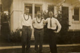 Everett Leavins and two buddies in Hawaii in the 1930s 1