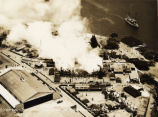 Fire at Luke Field Army Air Base, aerial view, June 1931