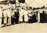 Flight commander of U.S. Navy Flight P2Y-1 and military and ciivilian dignitaries, Hawaii, 1934