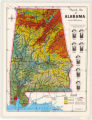 Physical Map of Alabama 1960