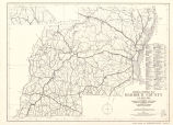 Barbour County, Alabama General Highway Map 1964