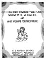 Celebration of Community and Place: Who We Were, Who We Are, and What We Hope for the Future