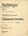 Halleluja! = Alleluia : song with Latin and German text [with audio link]