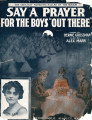"Say a prayer for the boys ""out there"" [with audio link]"