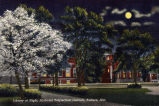 Library (now Mary Martin Hall) at Night, Auburn University