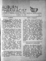 1938-12-15: Auburn Pharmacist Newsletter, Auburn, Alabama, Volume 01, Issue 01