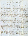 Letter from Robert Tait, Camden, Alabama, to Charles William Tait, Columbus, Texas, 1856-11-21