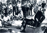 1980: Pres. Philpott with students