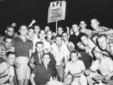 1958: AU students protesting football probation
