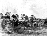 1887: Remains of Old Main building after fire