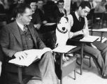 1938: Jerry the dog attends veterinary medicine classes
