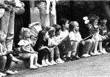 1990s: Children watching parade