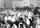 1939: Pep rally in Langdon Hall