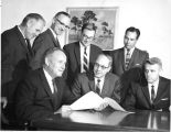 1965: Prof. Harry Philpott and first recipients of Alumni Professorships