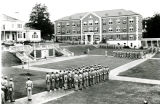 1944: ASTP soldiers at drill in the Quad